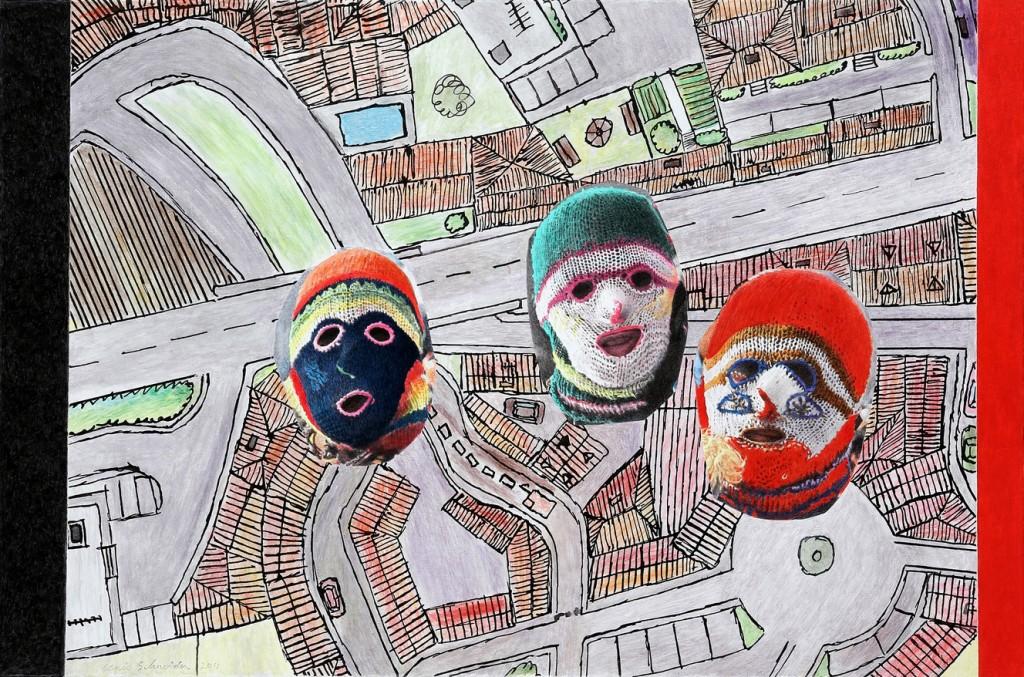 Trois Têtes masquées