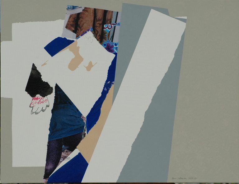 174 Jupe bleue et bas violets 89x116 - 1999