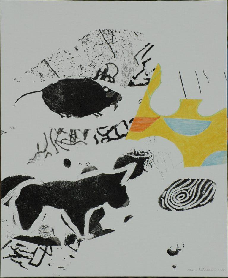 235 Peinture rupestre post-historique n°1 73x60 - 2005
